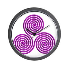 triskele Positively Pink Wall Clock