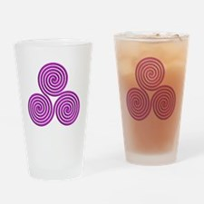 triskele Positively Pink Drinking Glass
