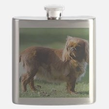 English Toy Spaniel Dog Portrait Flask