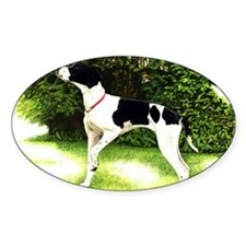 English Pointer Dog Portrait Decal