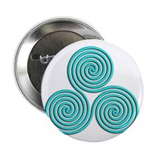"triskele Baby Blue 2.25"" Button"