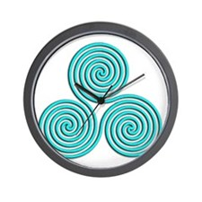 triskele Baby Blue Wall Clock