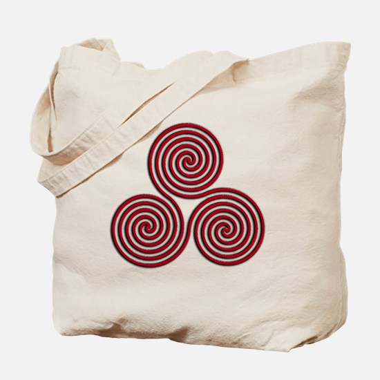 triskele Red Tote Bag