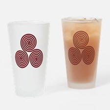 triskele Red Drinking Glass