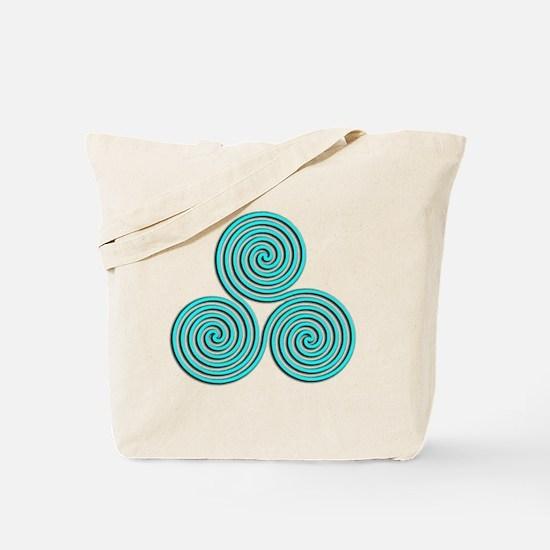 triskele Baby Blue Tote Bag