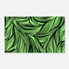 Green Leaves 3'x5' Area Rug