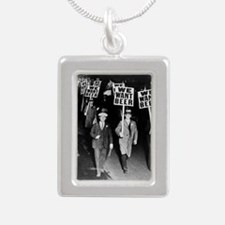 We Want Beer! Protest Silver Portrait Necklace