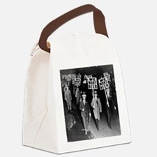 We Want Beer! Protest Canvas Lunch Bag