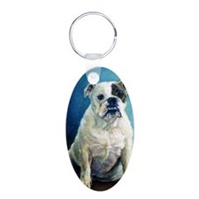 English Bulldog Dog Portrai Keychains