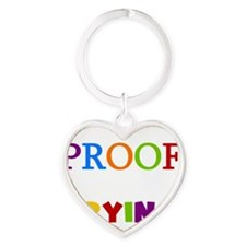 Mistakes Proof You Are Trying Heart Keychain