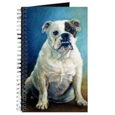 English Bulldog Dog Portrait Journal