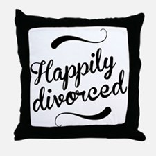 Happily divorced Throw Pillow