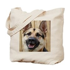 big dog german shepherd face Tote Bag