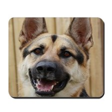 big dog german shepherd face Mousepad