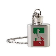 Italy Italian Flag Flask Necklace