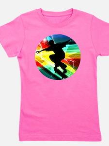 Skateboarding on Criss Cross Lightning Girl's Tee