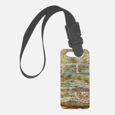 Monet Bridge over Pond of Water  Luggage Tag