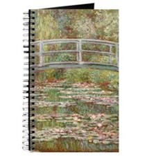 Monet Bridge over Pond of Water Lilies Journal