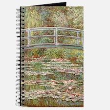 Monet Bridge over Pond of Water Lilies Journal