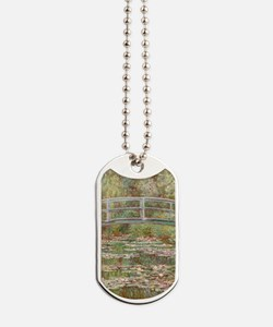 Monet Bridge over Pond of Water Lilies Dog Tags