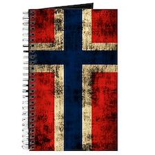 Norwegian Flag Grunge Distressed Journal