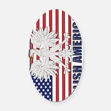 Polish American Oval Car Magnet