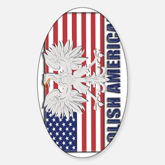 Polish American Sticker (Oval)