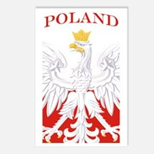 Poland Eagle Flag Postcards (Package of 8)