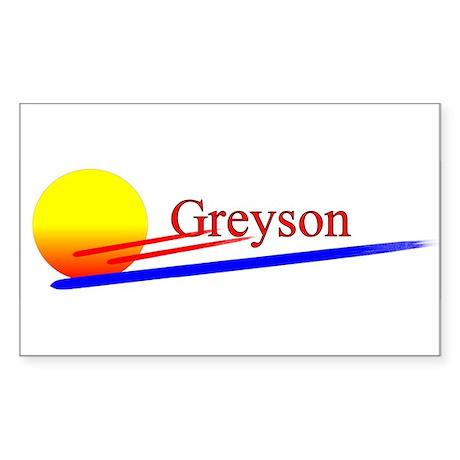 Greyson Rectangle Sticker