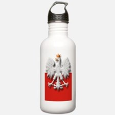 Polish Eagle Flag Water Bottle