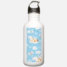 Whimsical Flying Cows Water Bottle
