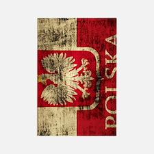 Polska Polish Flag Coat of Arms G Rectangle Magnet