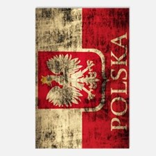 Polska Polish Flag Coat o Postcards (Package of 8)
