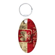 Polska Polish Flag Coat of  Keychains