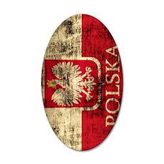 Polska Polish Flag Coat of A Wall Decal