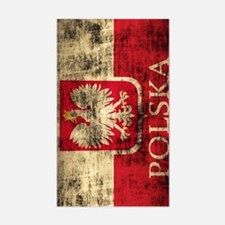 Polska Polish Flag Coat of Arm Sticker (Rectangle)