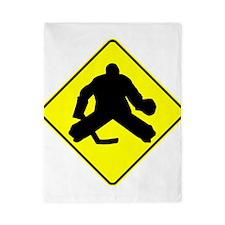Hockey Goalie Crossing Twin Duvet