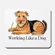 Working Airedale Mousepad