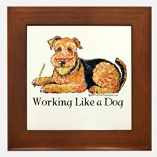 Working Airedale Framed Tile