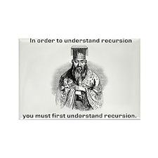 Recursion Confucius says Rectangle Magnet