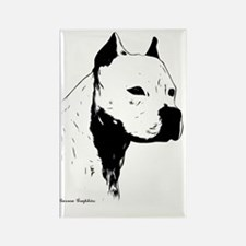 facing right dog head1 Rectangle Magnet