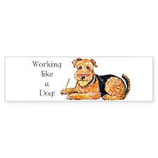 Working Airedale Bumper Bumper Sticker