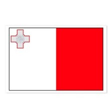 Cute Malta flag Postcards (Package of 8)