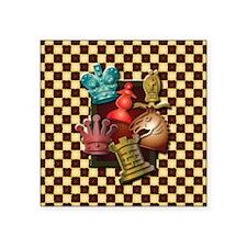 "Chess Boxes Square Sticker 3"" x 3"""