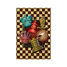 Chess Boxes Rectangle Magnet