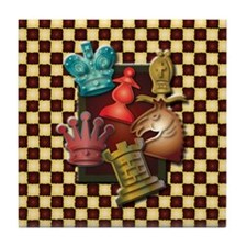 Chess Boxes Tile Coaster