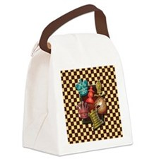 Chess Boxes Canvas Lunch Bag