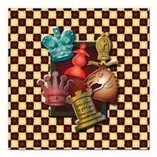 """Chess Boxes Square Car Magnet 3"""" x 3"""""""