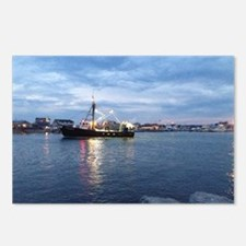 Night Fishing Boat Postcards (Package of 8)