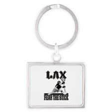 LAX Fear The Stick Landscape Keychain